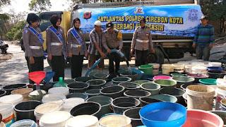 Masyarakat Argasunya Sambut Gembira Bantuan Air Dari Polres Ciko Di Musim Kemarau Saat InI