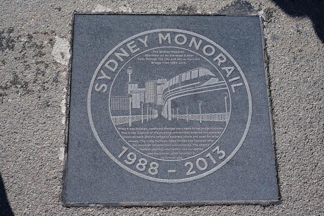 Sydney Monorail plaque on Pyrmont Bridge