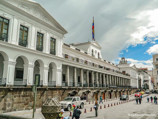 Palácio de Carondelet, sede do governo do Equador, em Quito