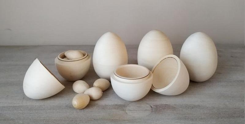hollow wooden eggs