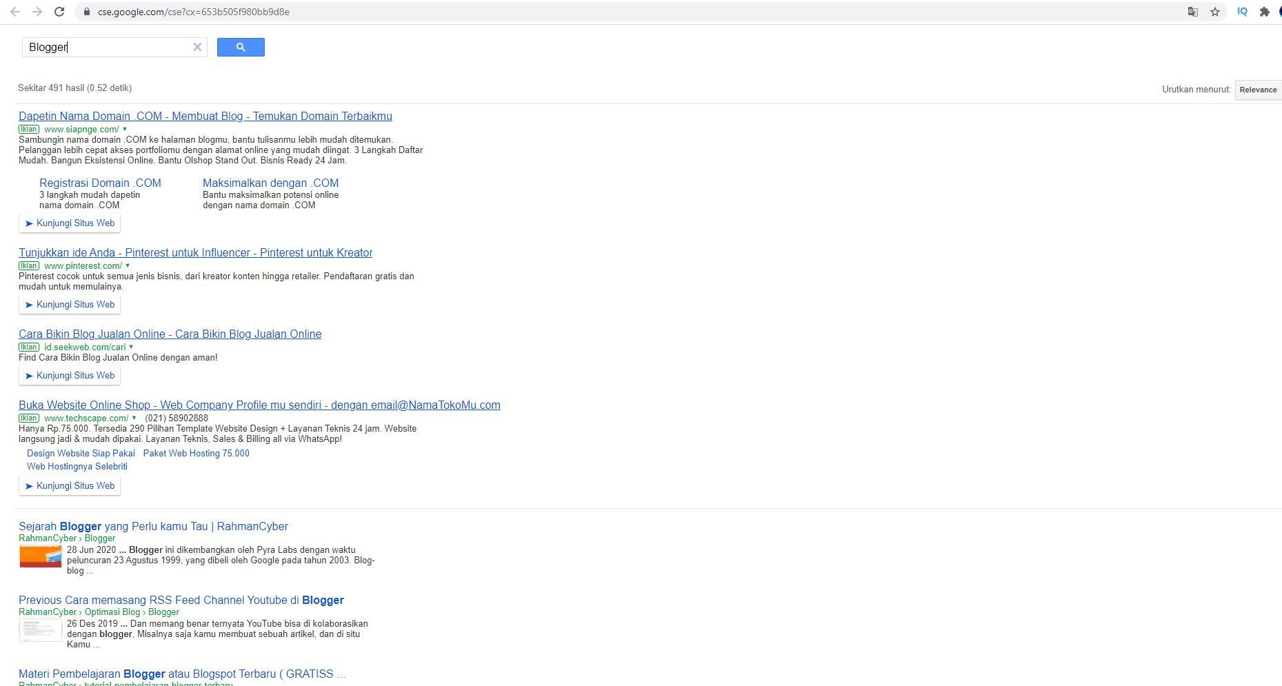 cse google result