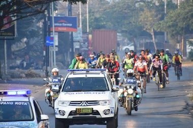 Denpom IX/1 Kupang gelar Fun Bike dan Jogging