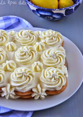 Tarta de galletas y crema de limón