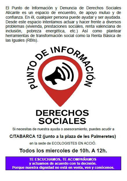 Punto información de derechos sociales