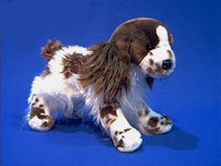 Liver English Springer Spaniel plush stuffed animal toy