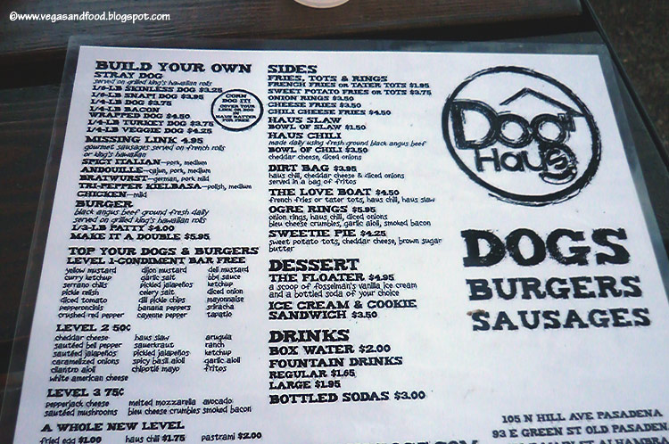 Dog Haus Pasadena Vegas And Food