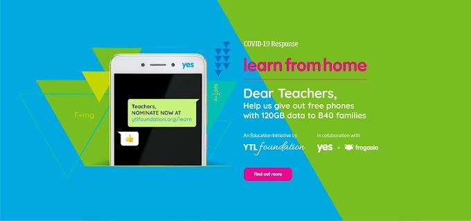 YTL Foundation Beri Bantuan Telefon Dan 120GB Internet Percuma