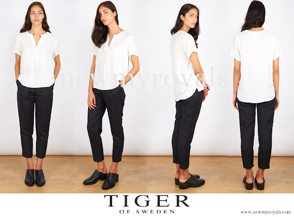 Crown Princess Victoria wore Tiger of Sweden Dulce Blouse