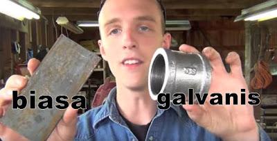 besi biasa dan besi galvanis
