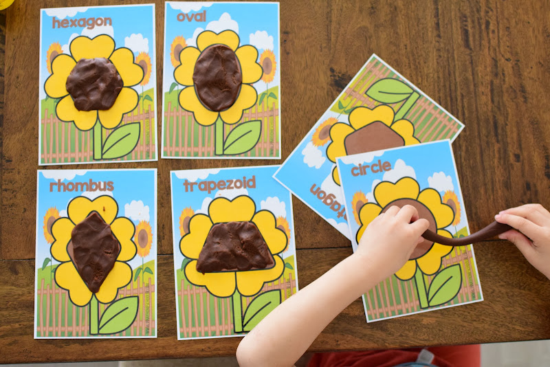 SPRING FLOWER DOUGH MAT SHAPES