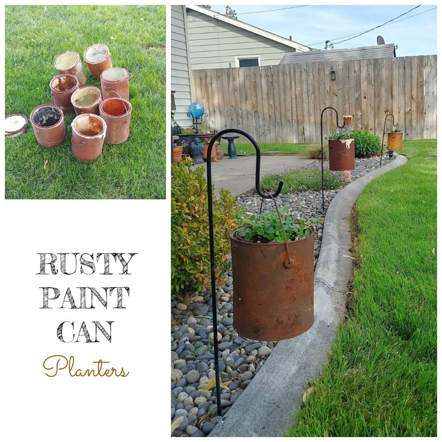 Rusty Paint Can Planters - A Pinspiration Challenge!