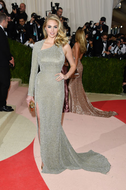 Kate Upton Carpete vermelha Red carpet: As mais bem vestidas na Met Gala 2016
