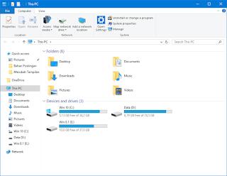 Gambar 4 - Cara Merubah Tampilan File Explorer Windows 8, 8.1, dan 10 Menjadi Gaya Windows 7