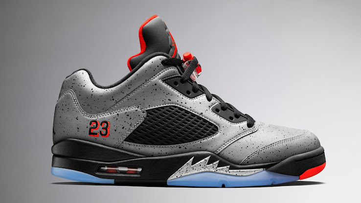 Air Jordan 5 Low Neymar - Reflective Silver   Infrared   Black 76ea57c3fbac