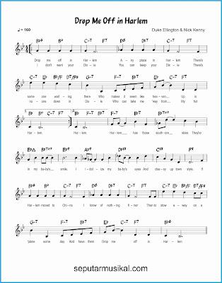drop me off in harlem lagu jazz standar