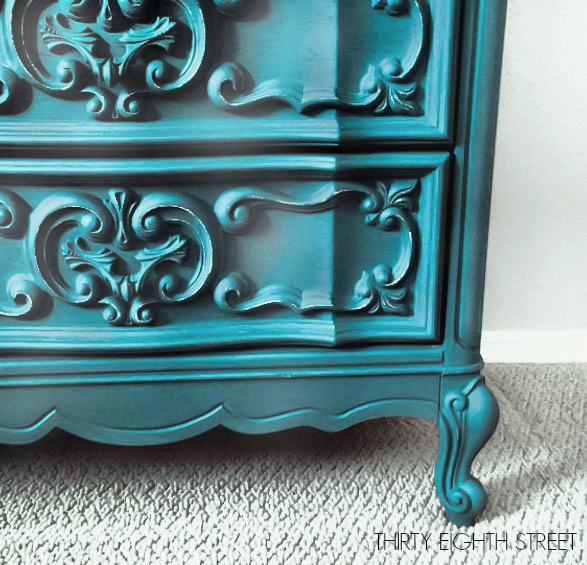 Turquoise painted furniture ideas Bedroom Create Your Style Decorating With Color Diy Dresser Ideas Diy French Provincial Thirty Eighth Street Furniture Makeovers Using Color Thirty Eighth Street