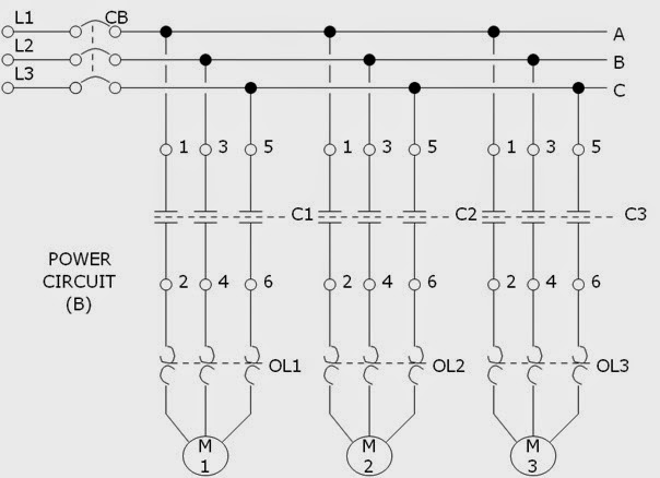 sequential motor starter wiring diagram