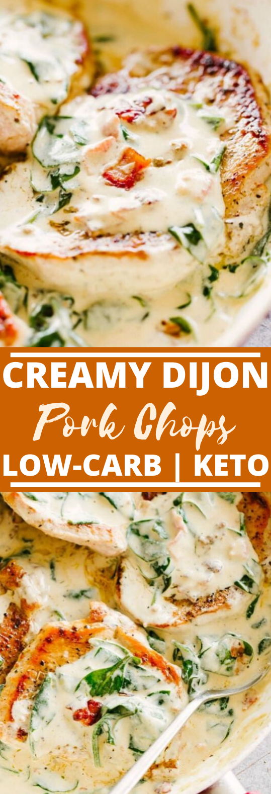 Creamy Dijon Pork Chops #healthy #lowcarb #pork #keto #dinner