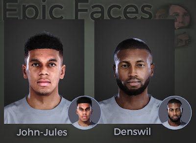 PES 2021 Faces Tyreece John-Jules & Stefano Denswil by Epic Faces