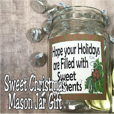 Fill this mason jar with any of your favorite candies or treats for an easy and yummy Christmas gift for everyone on your Christmas list.  This sweet moments candy mason jar gift comes with a beautiful tag and a way to make Christmas easy this year.