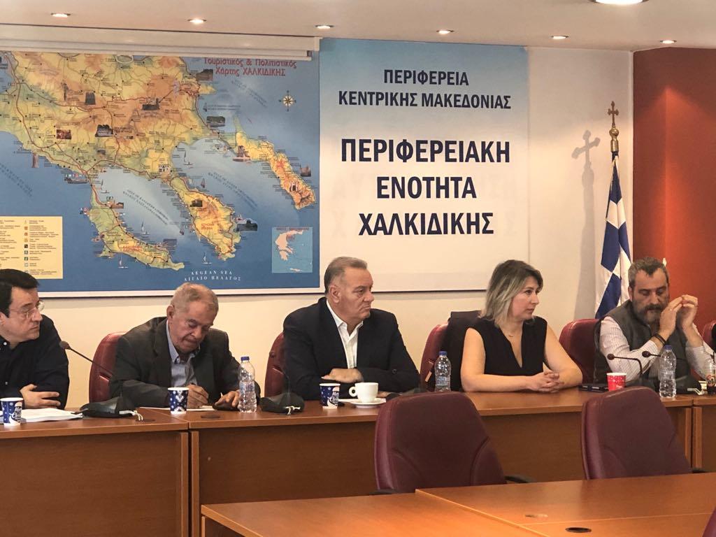 Σύσκεψη στην Περιφερειακή Ενότητα Χαλκιδικής για την αντιμετώπιση πλημμυρών και χιονοπτώσεων για τη χειμερινή περίοδο 2019-2020