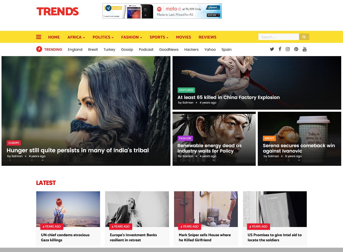 Trends Magazine Blogger Template Premium Version