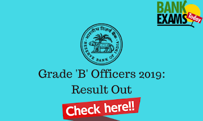 RBI Grade 'B' Officers 2019: Paper I Result Out