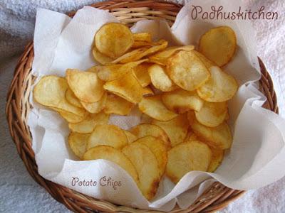 Potato Chips How To Make Potato Chips Padhuskitchen
