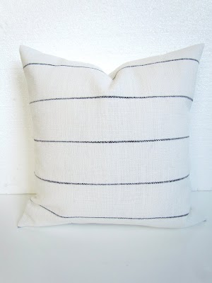 ticking stripe pillow cover