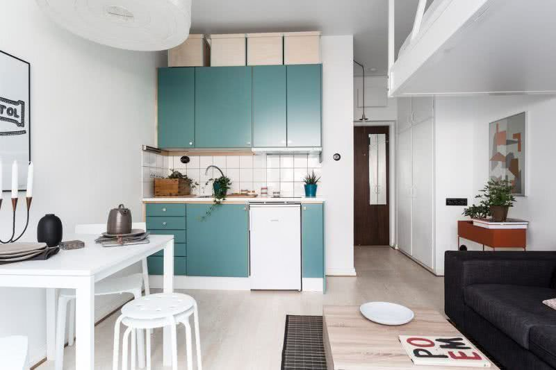 A kitchen project in a small apartment.
