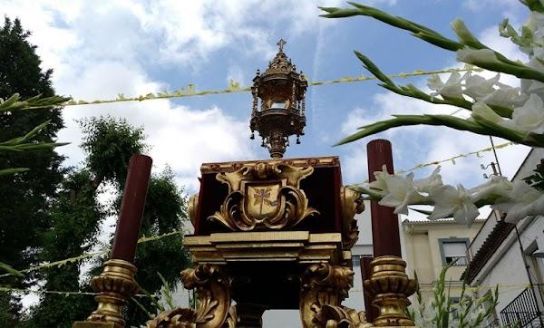 Itinerario de la Procesión del Corpus Christu en Mengibar (Jaen) el próximo 23 de Junio del 2019