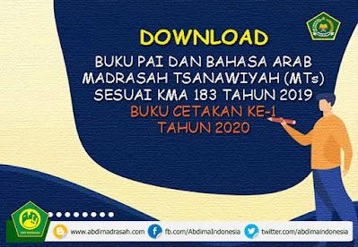 Buku Teks Pelajaran PAI dan Bahasa Arab Madrasah Tsanawiyah (MTs) Cetakan Ke-1 Tahun 2020