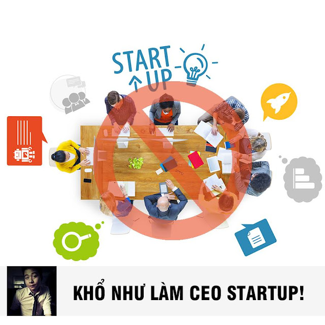 Khổ như làm CEO Startup