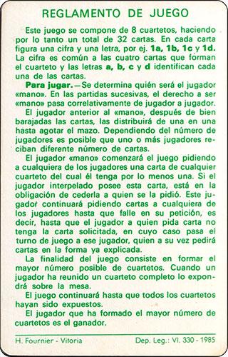 Baraja David el Gnomo Fournier Carta Reglamento 2