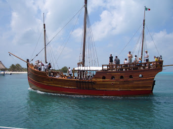 Columbus caravel replica boat