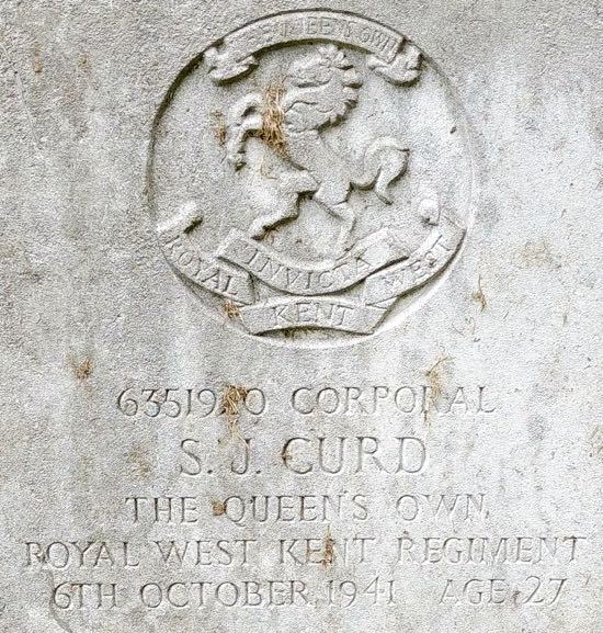 Photograph of The grave of Corporal Sidney, John Curd Image by the North Mymms History Project, released under Creative Commons BY-NC-SA 4.0
