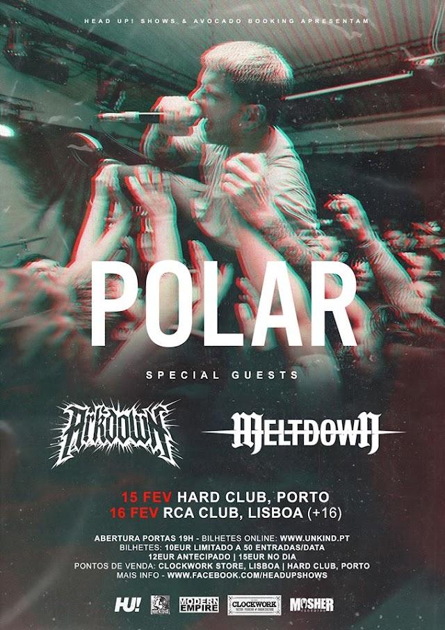 Reportagem: Polar, Arkdown e Meltdown @ RCA Club, Lisboa - 16/02/2020