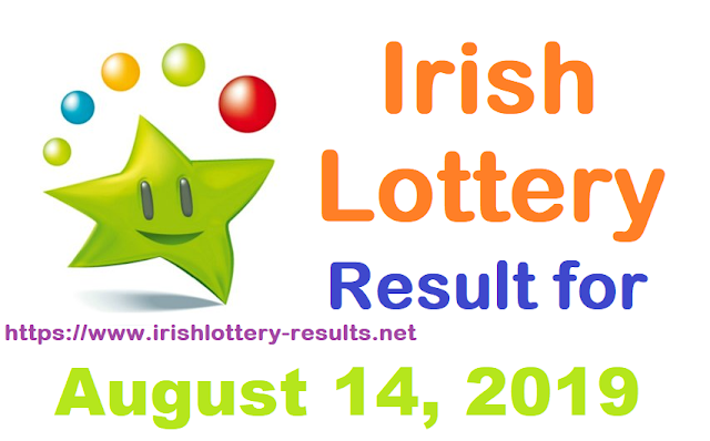 Irish Lottery Result for Wednesday, August 14, 2019