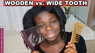 Wooden Comb vs Wide Tooth Comb for Natural Hair