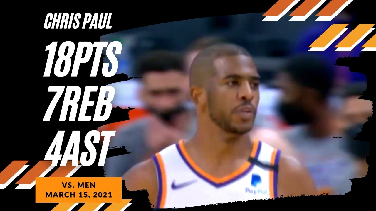 Chris Paul 18pts 7ast 4stl vs MEN | March 15, 2021 | 2020-21 NBA Season