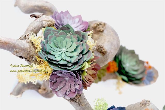 Sukkulentengarten Oh so succulent Stampin Up papiertier Indina Deko