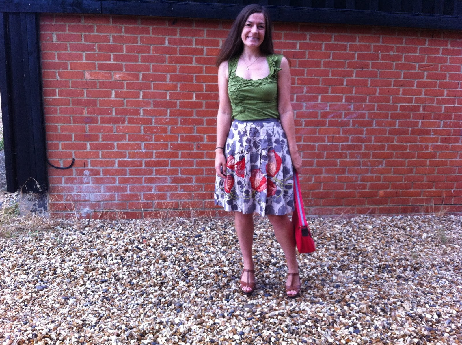 e7f6c4905 Skirt - Glowing Leaf Skirt by Floreat at Anthropologie, 2010 (worn here  here here) Shoes - Boden Strappy Heels, s/s 2013 (worn here) Bag - Boden  Oil ...