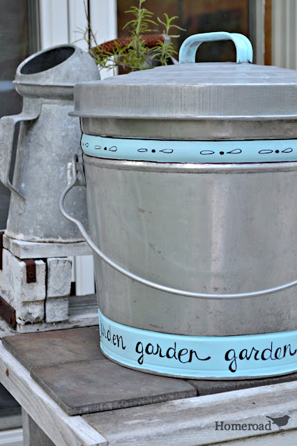 garbage can for soil and galvanized oil can