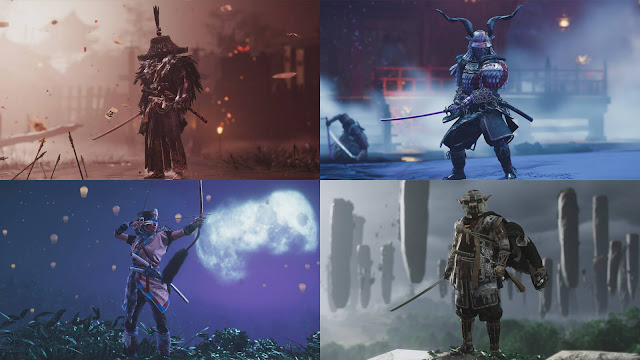 ghost of ikishima 1st anniversary playstation themed outfits dlc return bloodborne god of war horizon zero dawn shadow of the colossus ps4 ps5 2021 action adventure sucker punch productions sony entertainment interactive