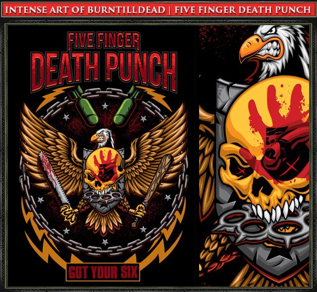 Burntilldead Five Finger Death Punch Eaglepunch Vector