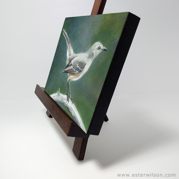 Mockingbird oil painting