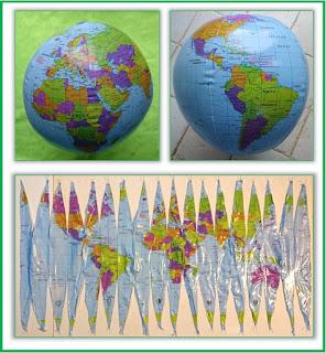 Les différentes représentations de la terre, du globe au planisphère