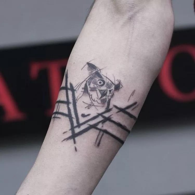 Round and round (all round) small forearms tattoos