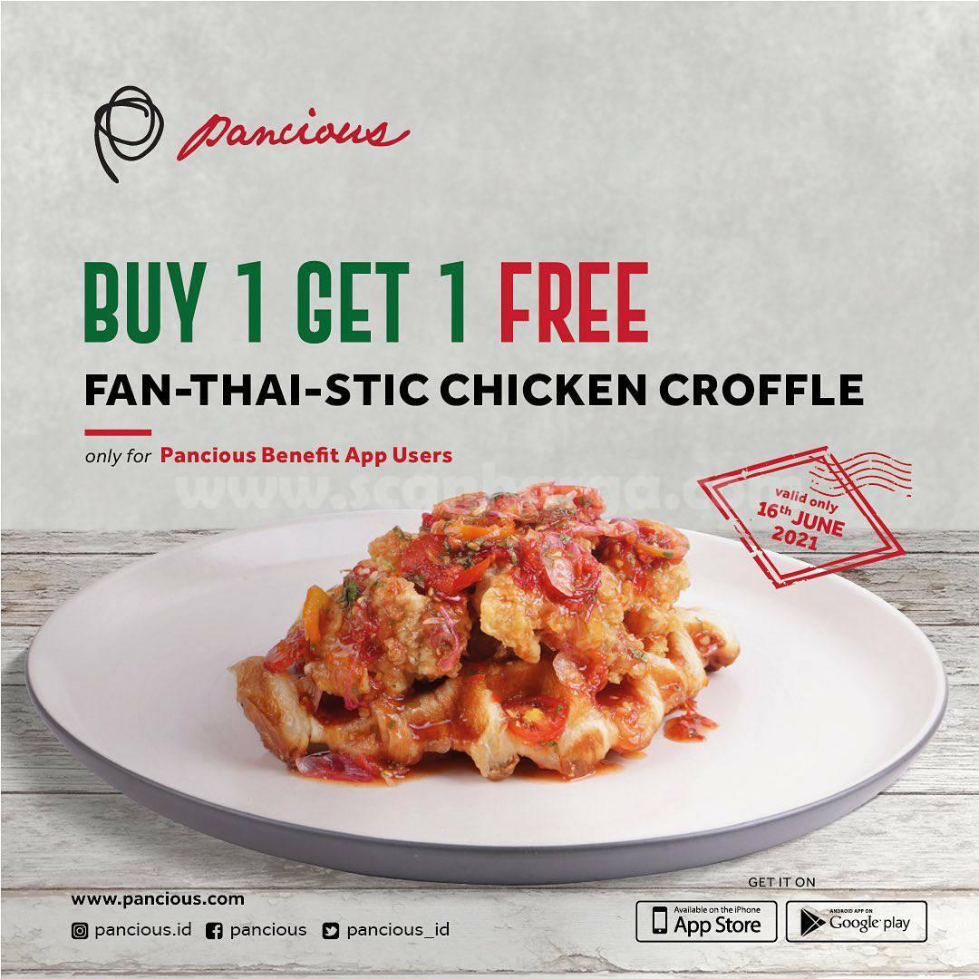 Promo Pancious Spesial Beli 1 Gratis 1 Fan-Thai-Stic Chicken Croffle