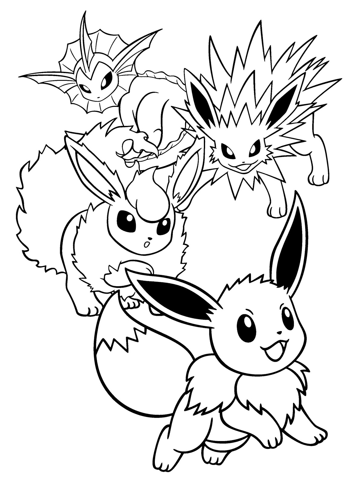 Eevee Coloring Pages Printable - Free Pokemon Coloring Pages